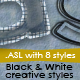 Black & White Creative Text Styles - GraphicRiver Item for Sale