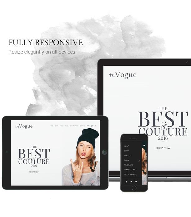 inVogue - WordPress Fashion Shopping Theme - 7