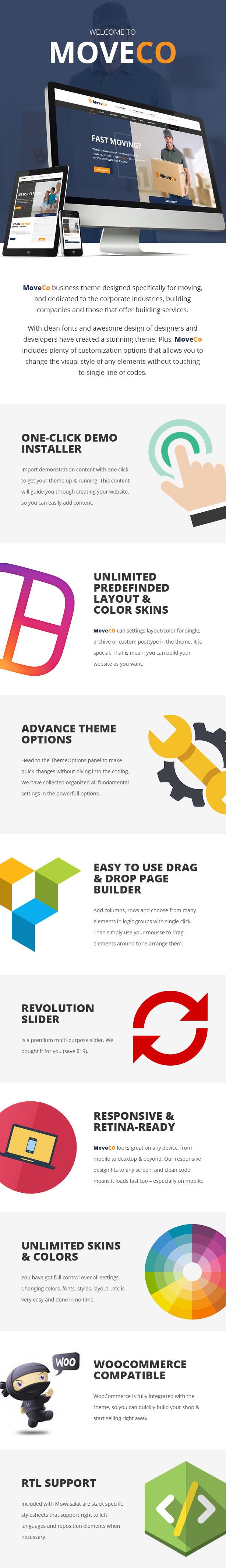 MoveCo - Logistics, Moving Company WordPress Theme - 1
