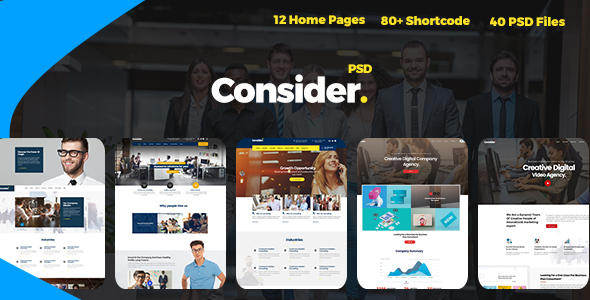 Consider - Consulting,Finance, Business Agency PSD Template