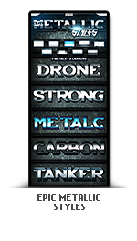 Epic metallic photoshop text effect styles