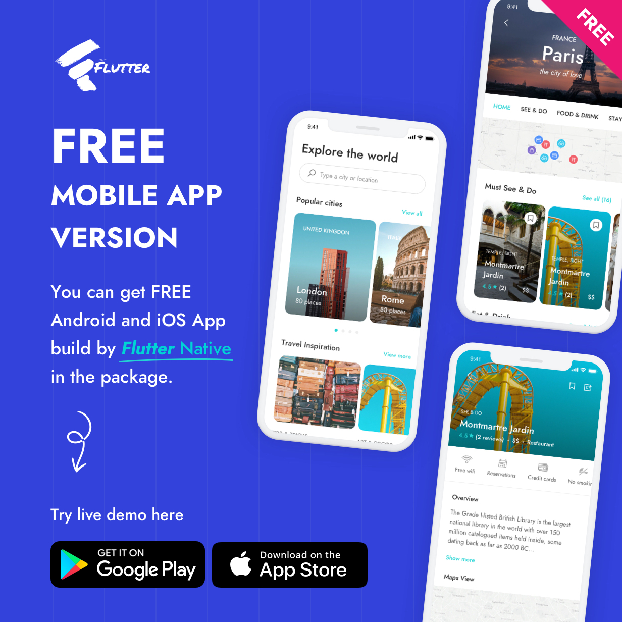 Flutter City Travel Guide App