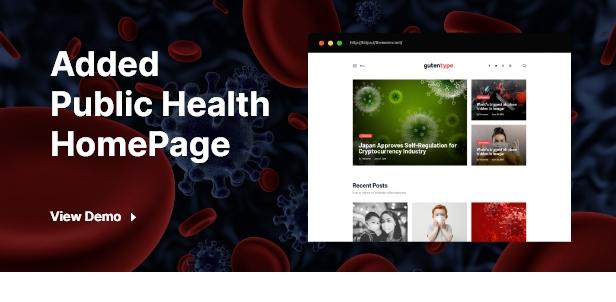 Covid Coronavirus Homepage