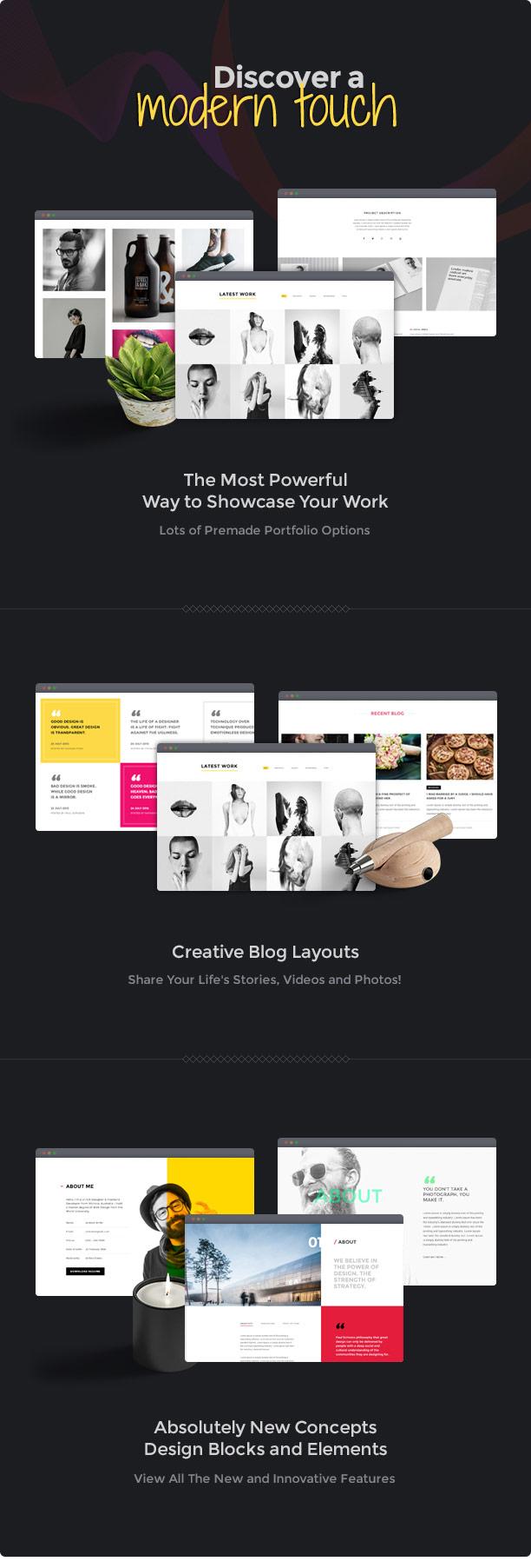 Brando Responsive and Multipurpose OnePage WordPress Theme - 9