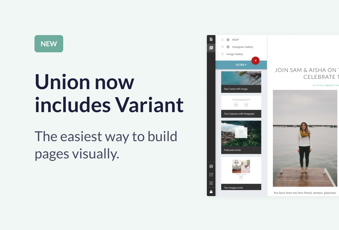 Union - Wedding and Event WordPress Theme for Variant & Visual Composer - 2