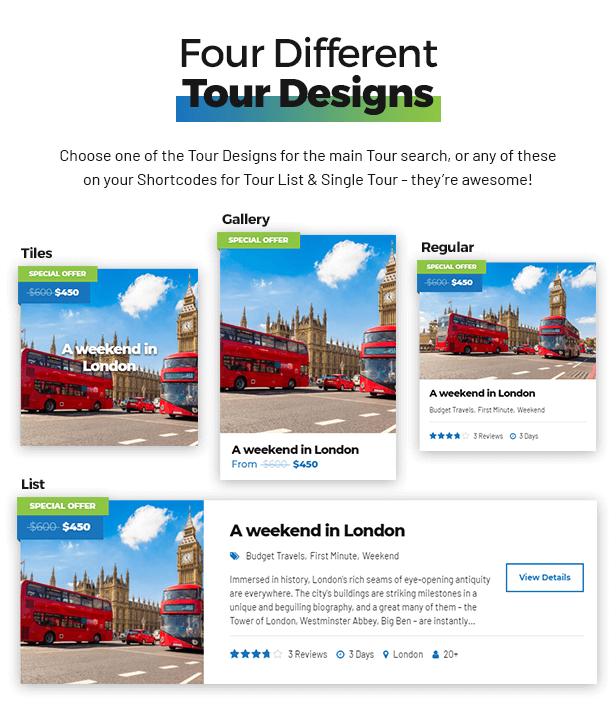Travelicious - Tourism, Travel Agency & Tour Operator WordPress Theme - 7