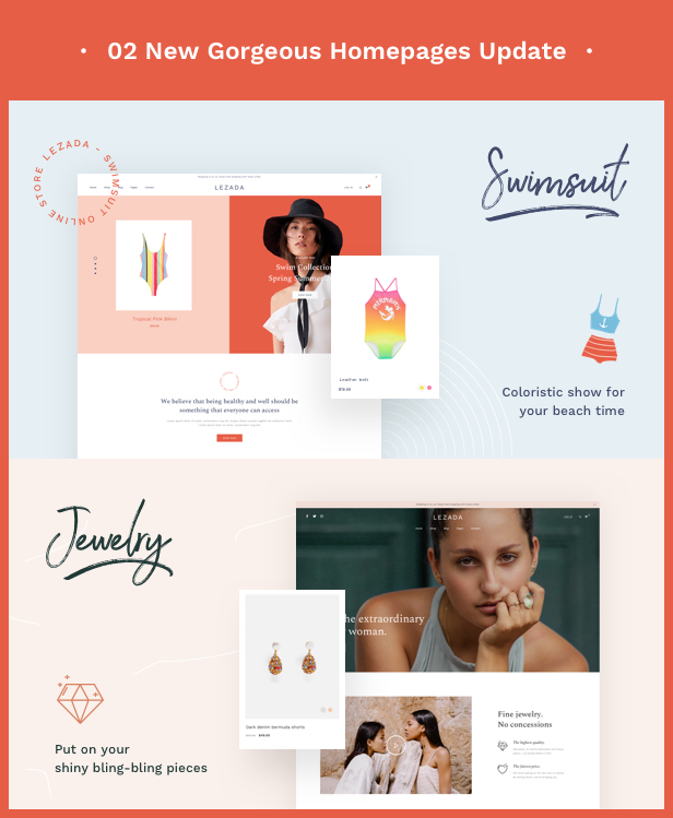 Fashion WooCommerce WordPress Theme - 2 New Homepages