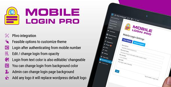Wordpress Mobile Login With Custom Page Plugin