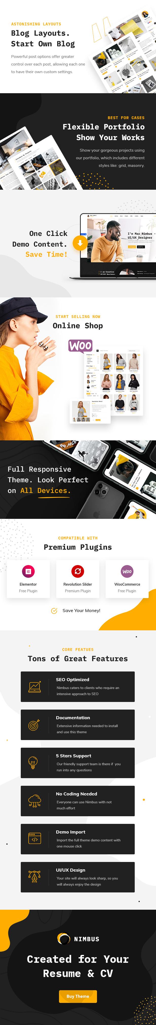 Nimbus - CV & Portfolio WordPress Theme - 2