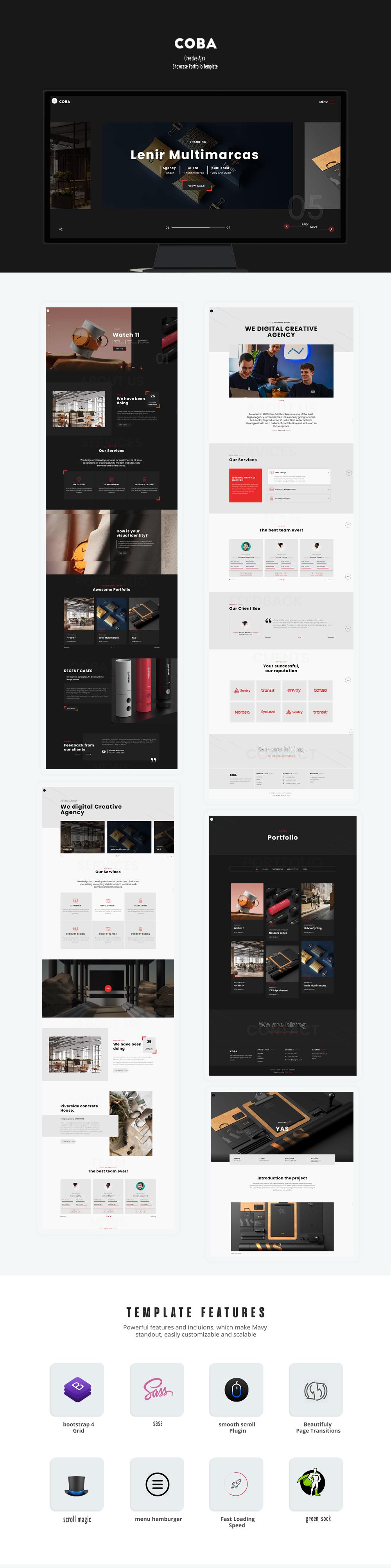 Coba - Creative Ajax Showcase Portfolio Template - 1