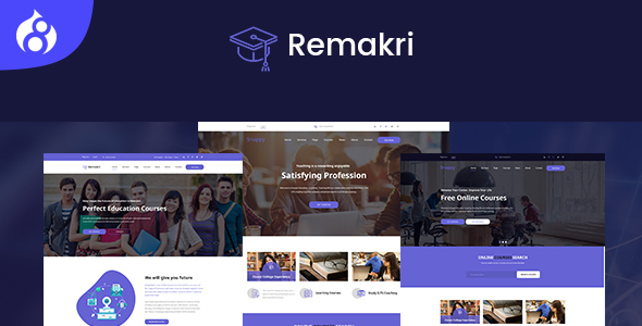 Remakri - Education Course Drupal 8 Theme