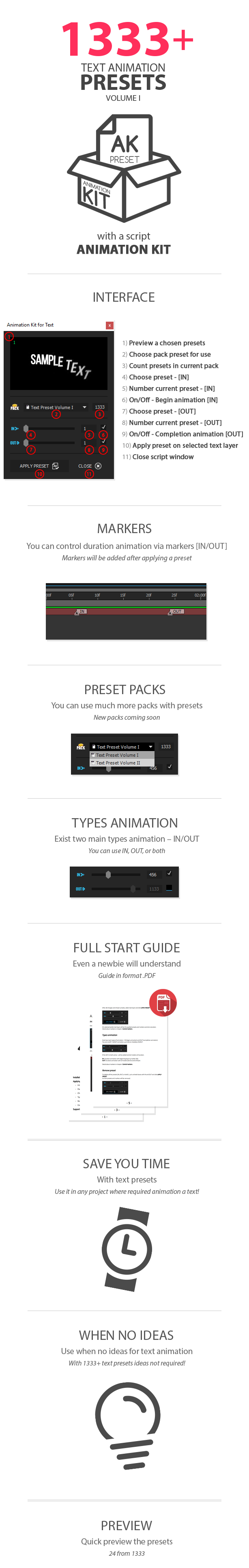 Text Preset Volume I for Animation Kit - 9