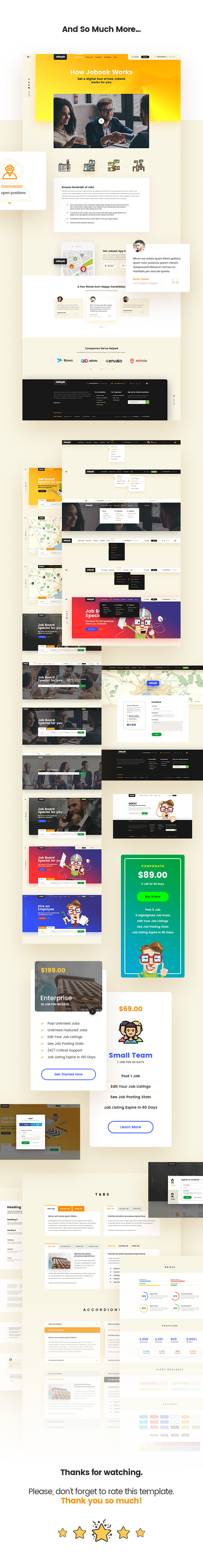 Jobook - A Unique Job Board Website PSD Template - 9