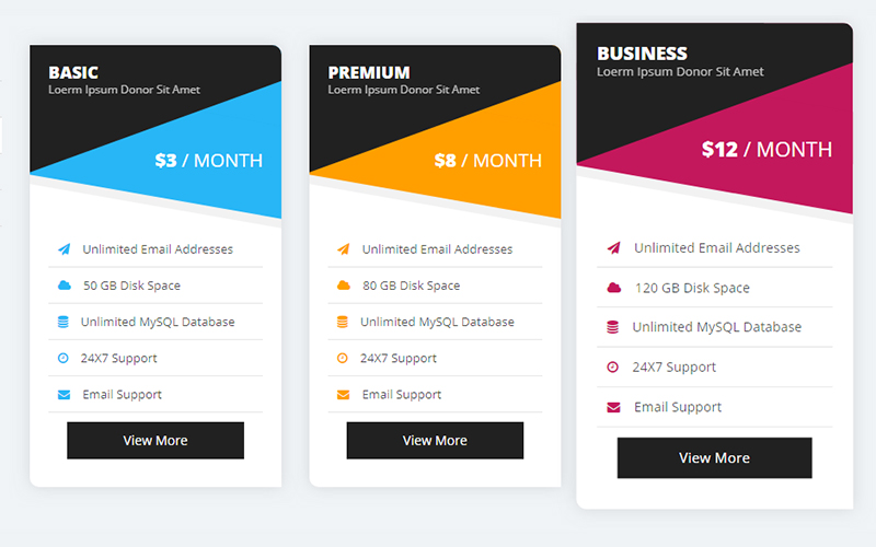 PLAN IT - Bootstrap Pricing Tables - 3