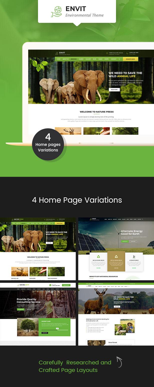Envit – An Environmental WordPress theme - 1
