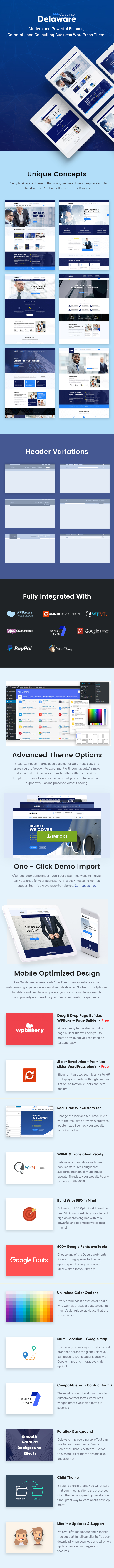 Delaware -  Consulting, Finance and Services Company WordPress Theme