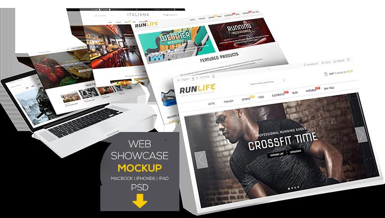 Web Showcase Mockup - 1