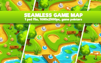 Island Palm Seamless Game Map - 3