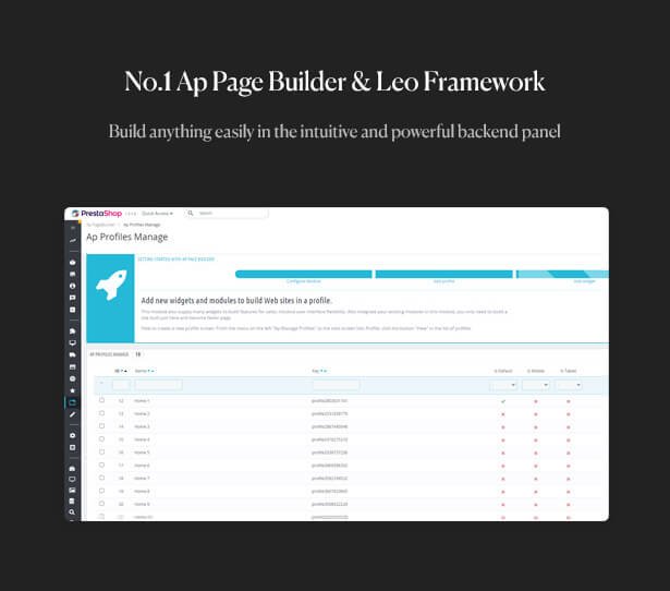 No.1 Ap Page Builder & Leo Framework Build anything easily in the intuitive and powerful backend panel