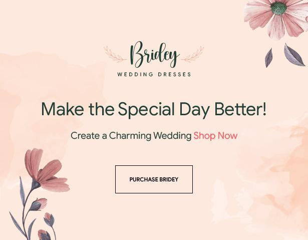 Bridey - Bridal Store eCommerce Prestashop Theme
