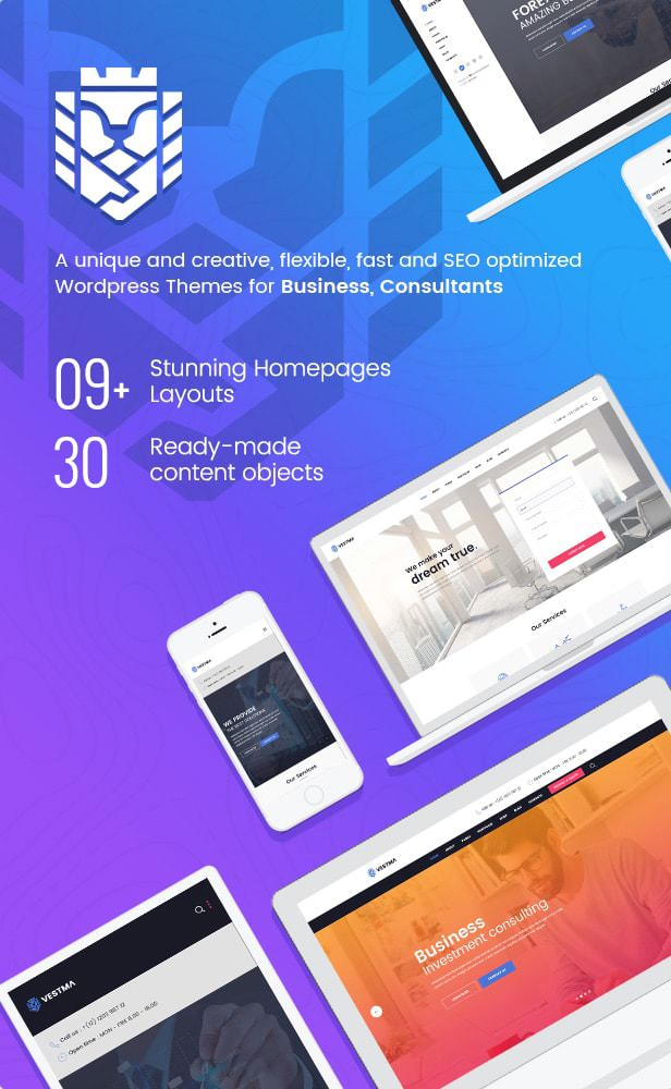 VestMa - Business, Consulting, Corporate WordPress Theme - 1