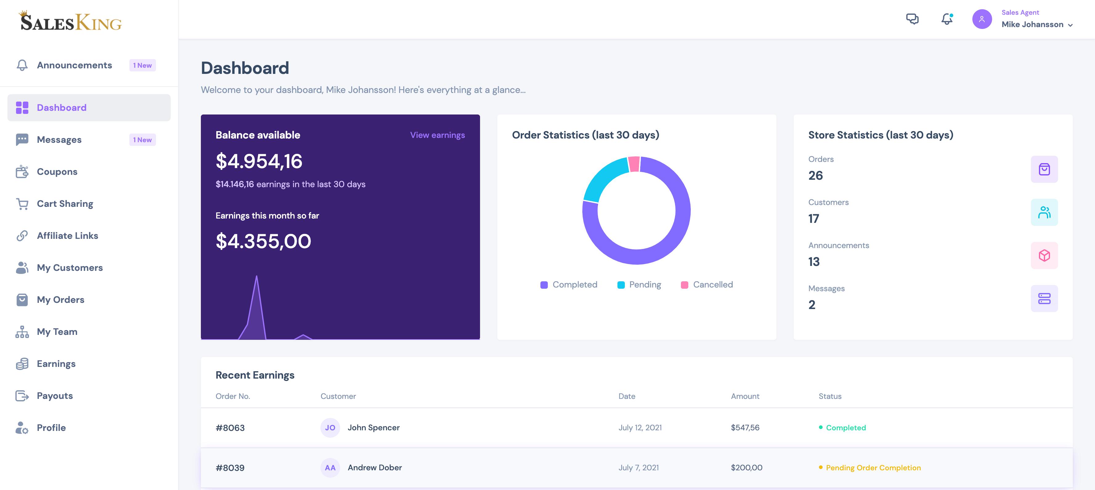 SalesKing - Ultimate Sales Team, Agents & Reps Plugin for WooCommerce - 6