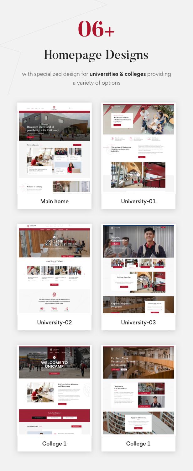 Unicamp - University and College WordPress Theme - 3
