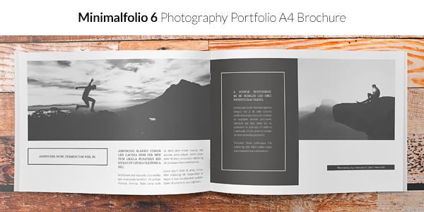 Minimalfolio 6 Photography Portfolio A4 Brochure