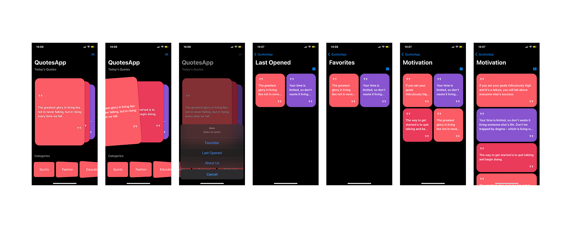Quotes SwiftUI IOS App - 2