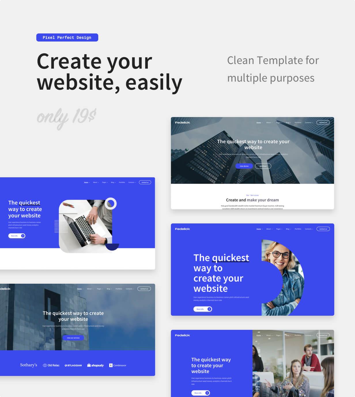 Fedelick - Corporate, Agency Multi-Purpose HTML Template - 1