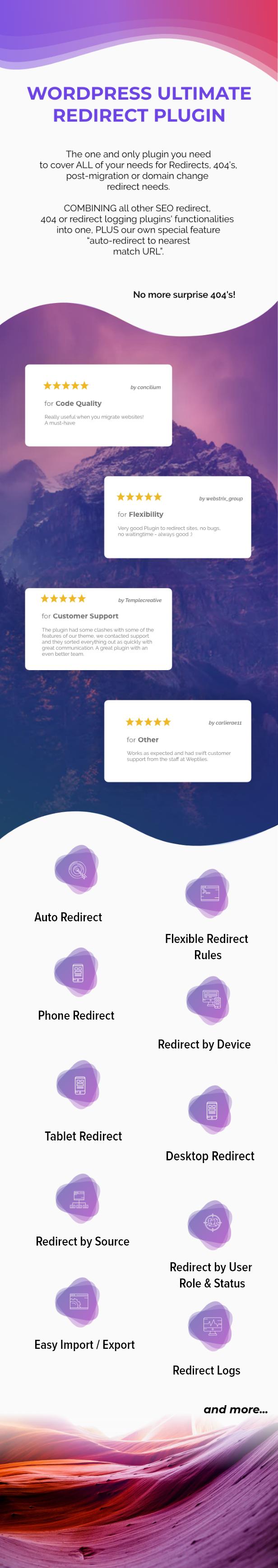 WordPress Ultimate Redirect Plugin - (with Auto-Redirect 404's)