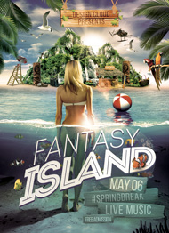 Fantasy Island Flyer Template