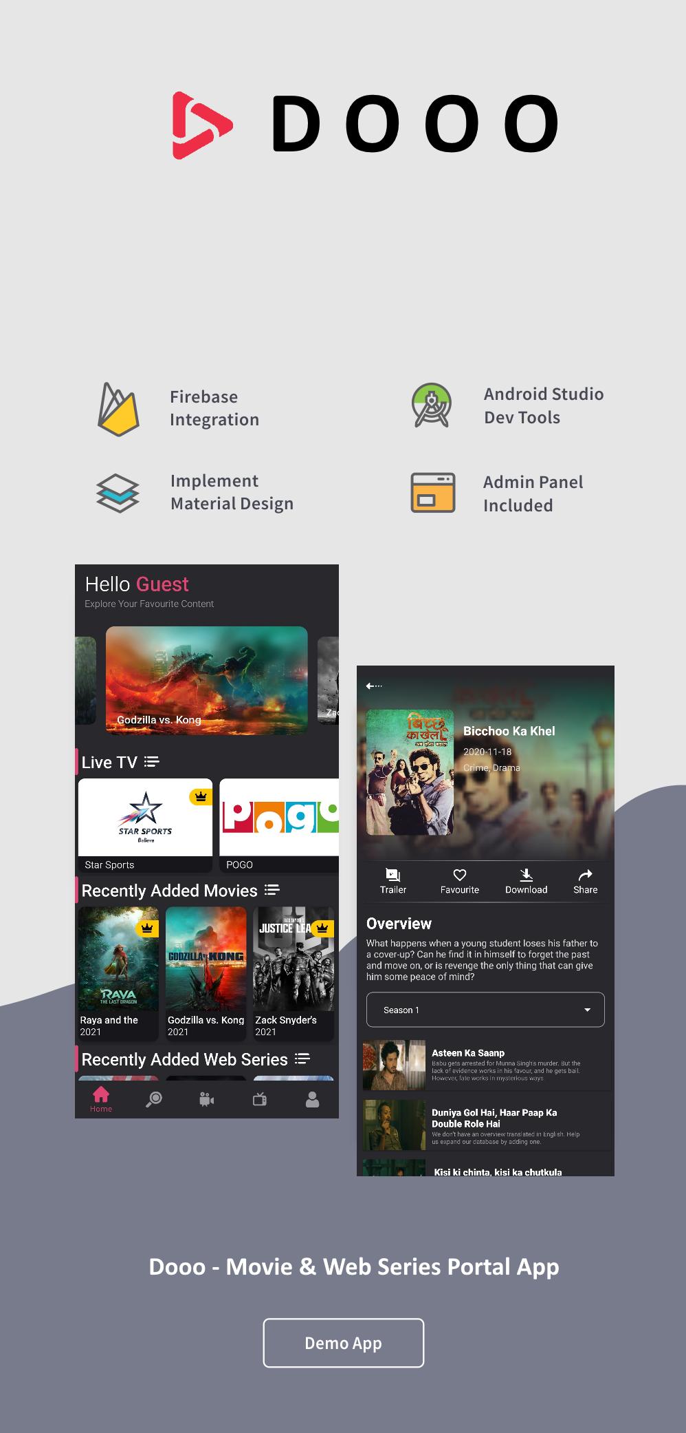 Dooo - Movie & Web Series Portal App User Documentation