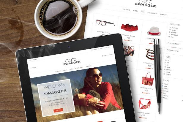 SWAGGER - Modern Shop PSD Template - 2