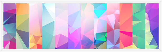 12 Light Leak Polygonal Background Textures #4