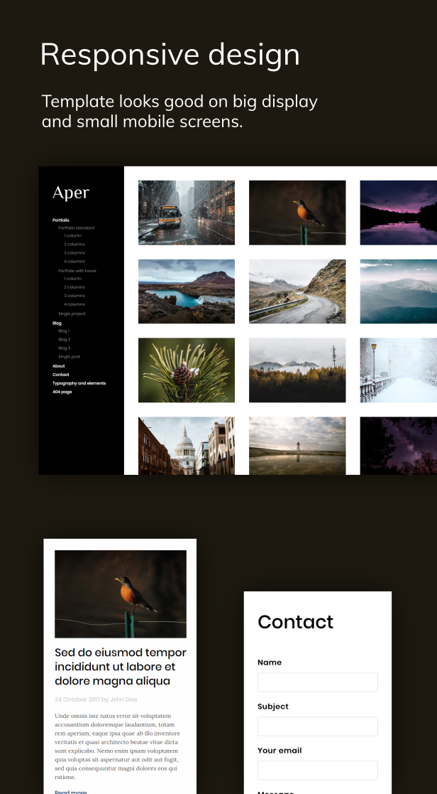 Aper - Responsive Creative Multi-purpose Portfolio Template - 2
