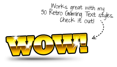 Click to see 50 Retro Gaming Text Styles