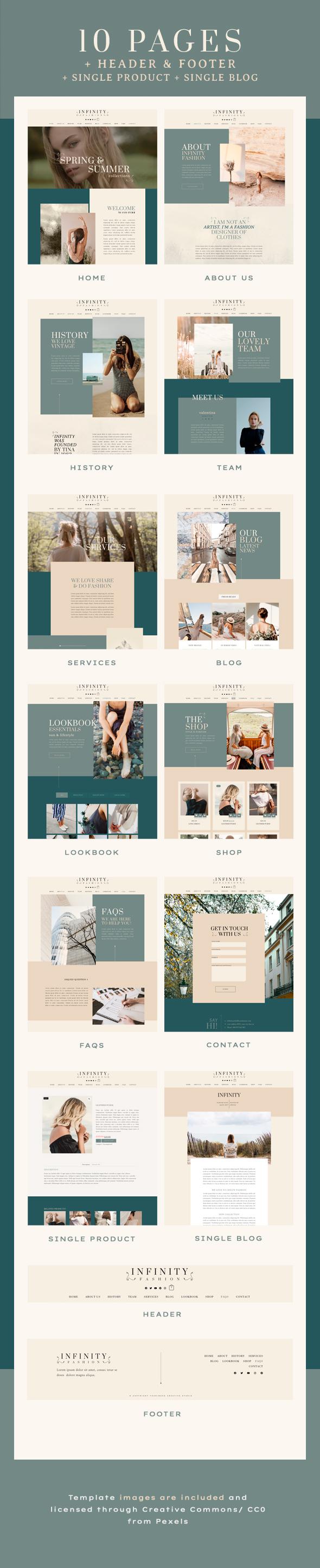 Infinity Fashion | Elementor Template Kit - WordPress