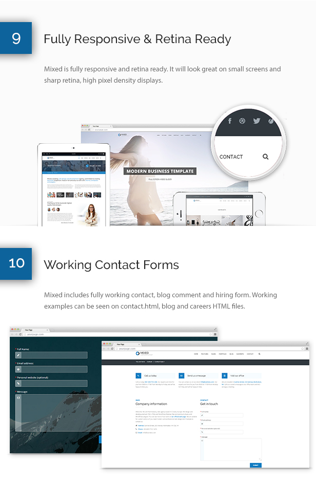 Mixed Modern and Professional HTML Template - 10