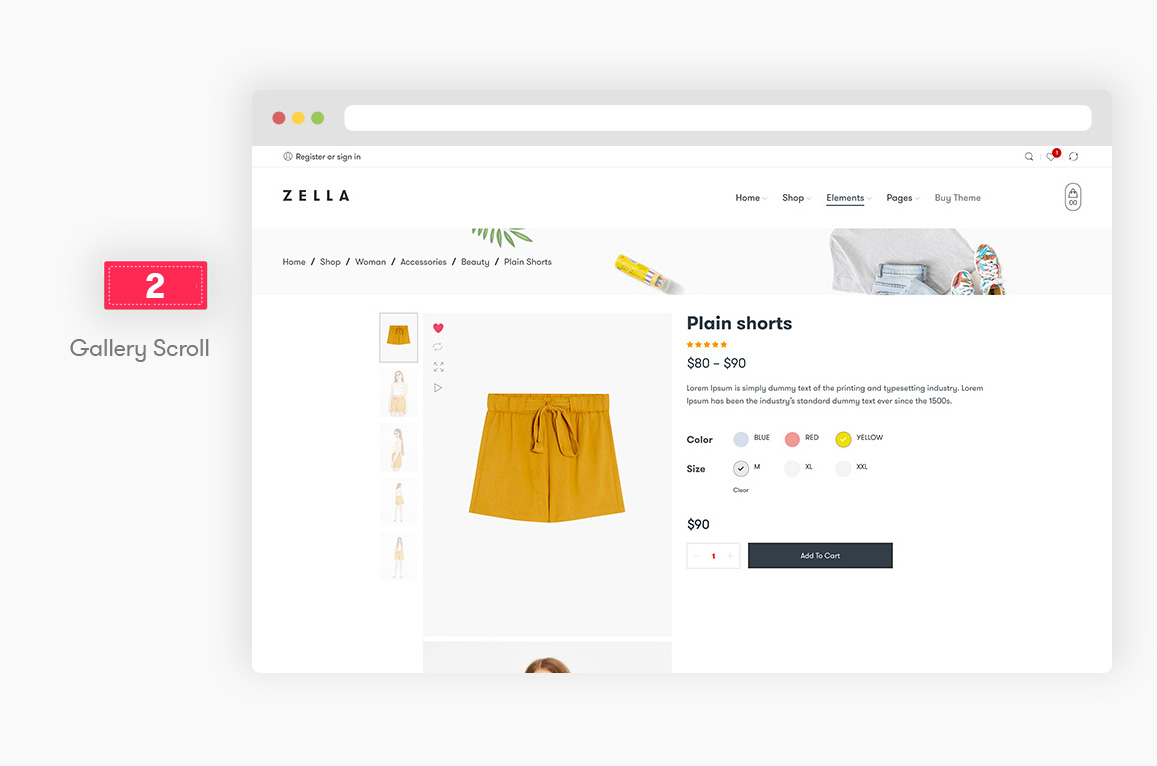 Zella - WooCommerce AJAX WordPress主题 - RTL支持 - 8