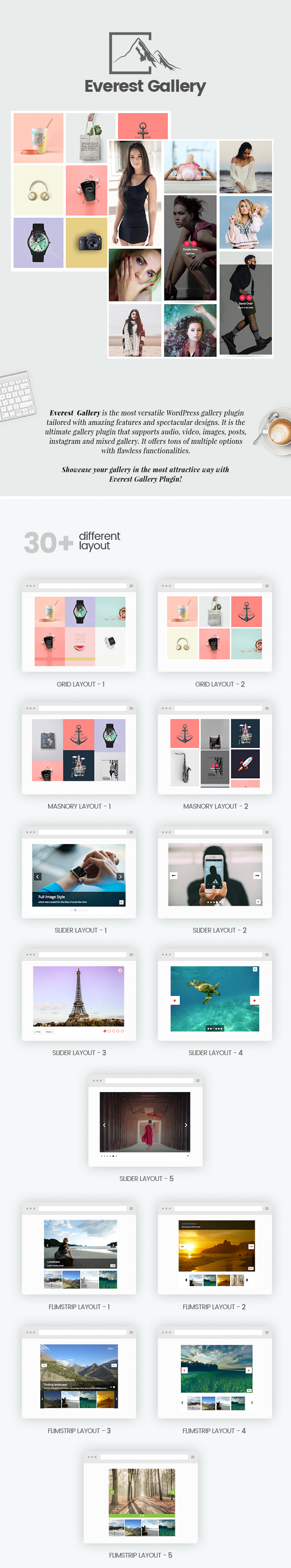 Everest Gallery - Responsive WordPress Gallery Plugin - 1