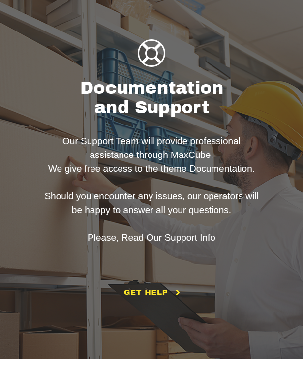 MaxCube Self Storage Business WordPress Theme