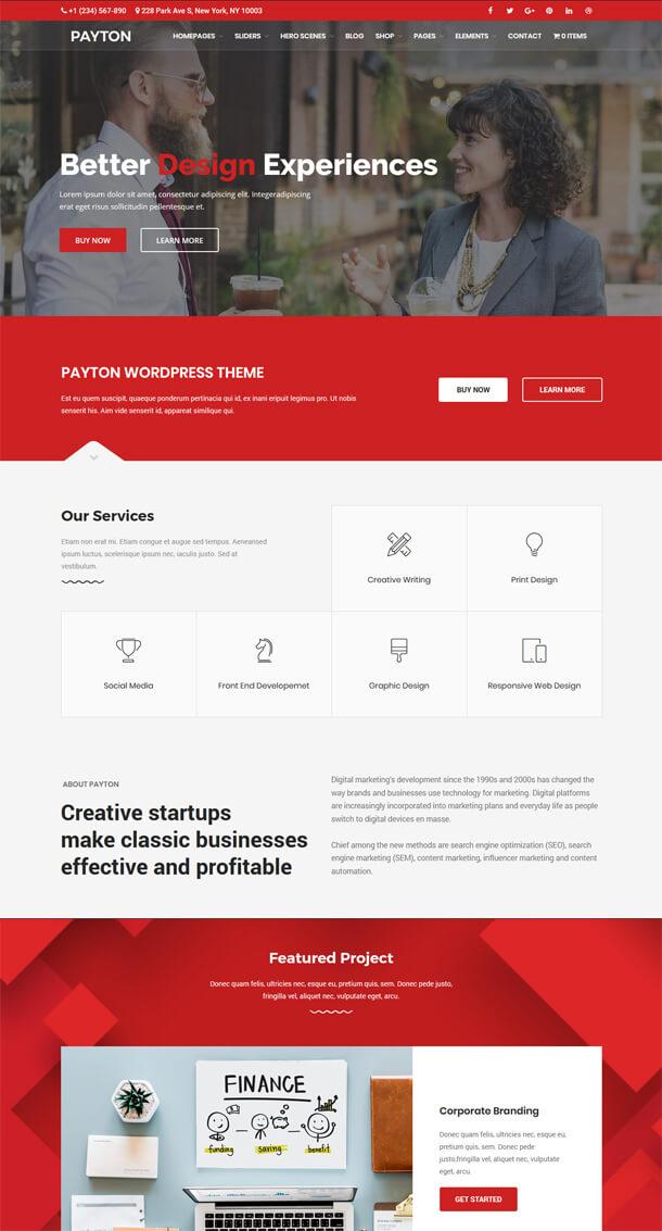 Payton - Business Creative WordPress Theme - 2