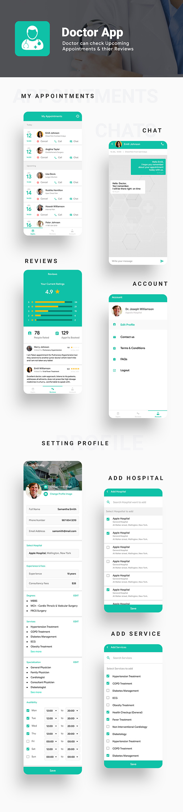 All in one Doctor App Solution Template Android + iOS (HMTL + Css) IONIC 5 | DoctoWorld - 4