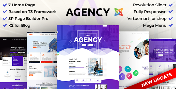 Agency: Multipurpose Joomla Website Template - Business Corporate