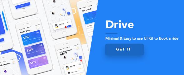 Drive - Mobile App UI Kit Design