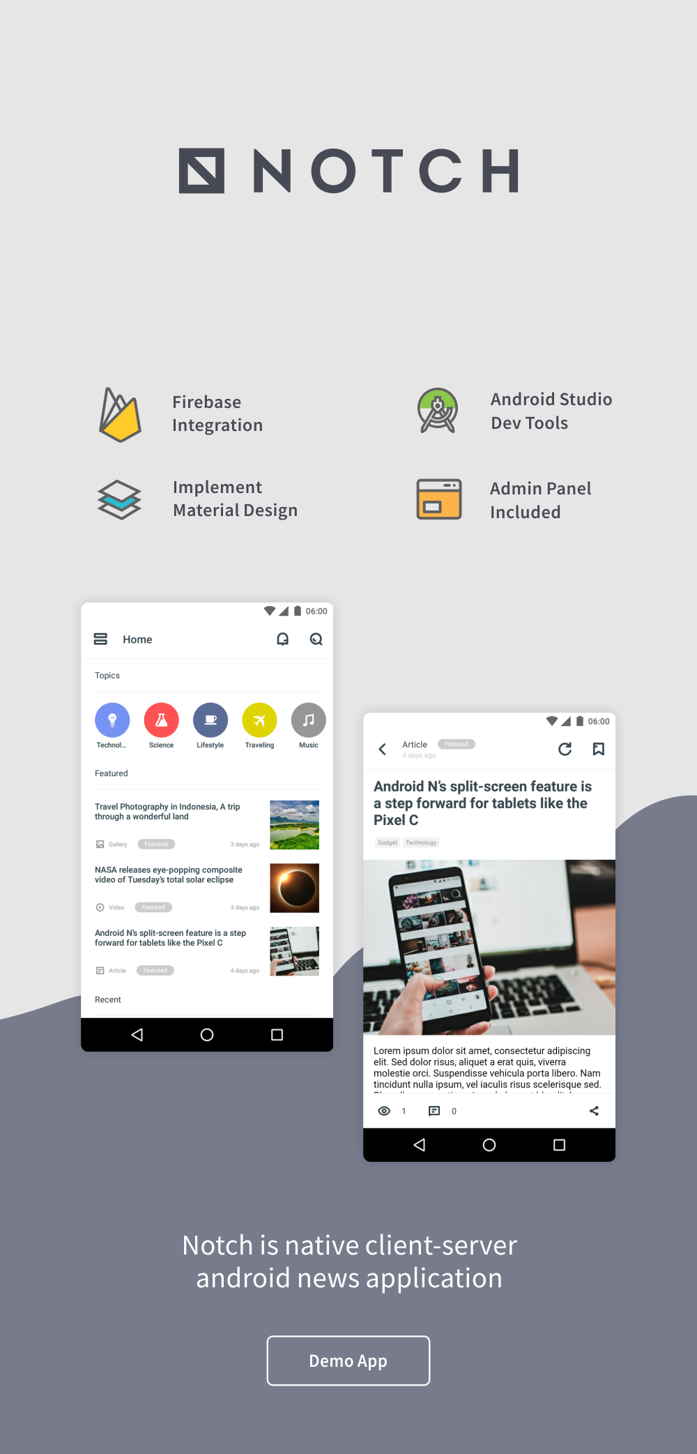 Notch - Android News Application 2.0 - 2