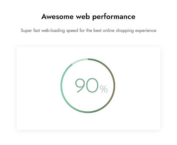 Awesome web performance Super fast web-loading speed for the best online shopping experience