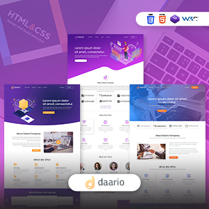 DAARIO - Corporate Portfolio HTML template
