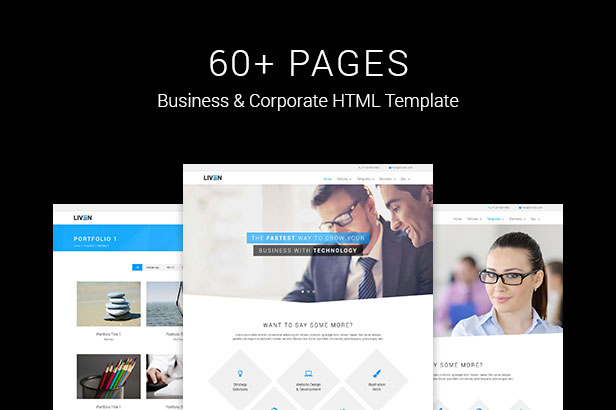 Liven modern corporate business portfolio html5 template by liven modern corporate business portfolio html5 template cheaphphosting Gallery